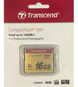 Карта памяти Transcend CompactFlash 16GB 1000x