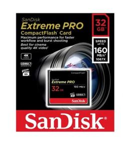 Карта памяти Sandisk CompactFlash Extreme PRO 160MB/s 32GB