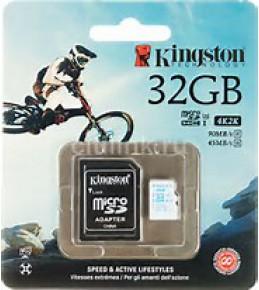 Карта памяти Kingston 32GB 600X Micro SDCAC/32GB