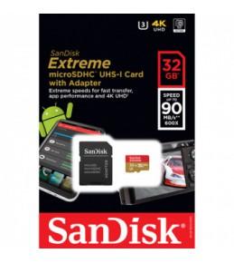 Карта памяти SanDisk Extreme microSDHC Class 10 UHS Class 3 90MB/s 32GB