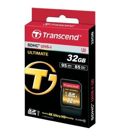 Карта памяти Transcend SDHC Class10 UHS-I U3X Ultimate (85/95MB/s) 32GB