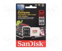 Карта памяти Sandisk Extreme microSDXC 64GB Class 10 UHS Class 3 90MB/s