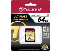 Карта памяти Transcend SDXC 64GB Class 10 UHS-IU3X (TS64GSDU3)