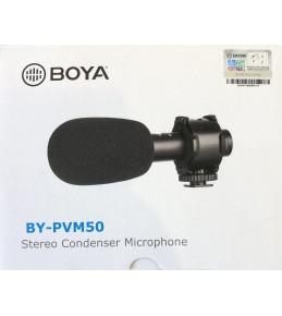 Микрофон компактный стерео конденсаторный  BOYA BY-PVM50