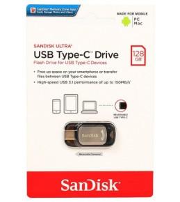 Флешка 128GB Sandisk CZ450 Ultra Type-C.PC.Mac, USB Type-C серебро (SDCZ450-128G-G46)