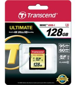 Карта памяти Transcend SDXC 128GB UHS-I Class10 (U3)  (TS128GSDU3)
