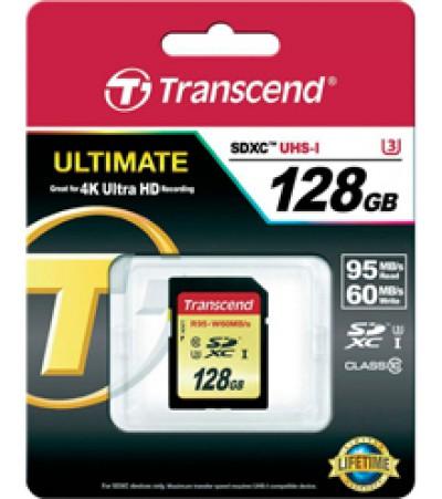 Карта памяти Transcend SDXC 128GB Class 10 U3(TS128GSDU3)